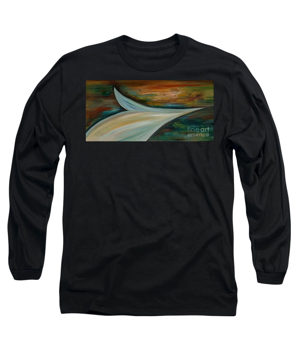 Modern Art Long Sleeve T-Shirt featuring the painting Heaven by Silvana Abel