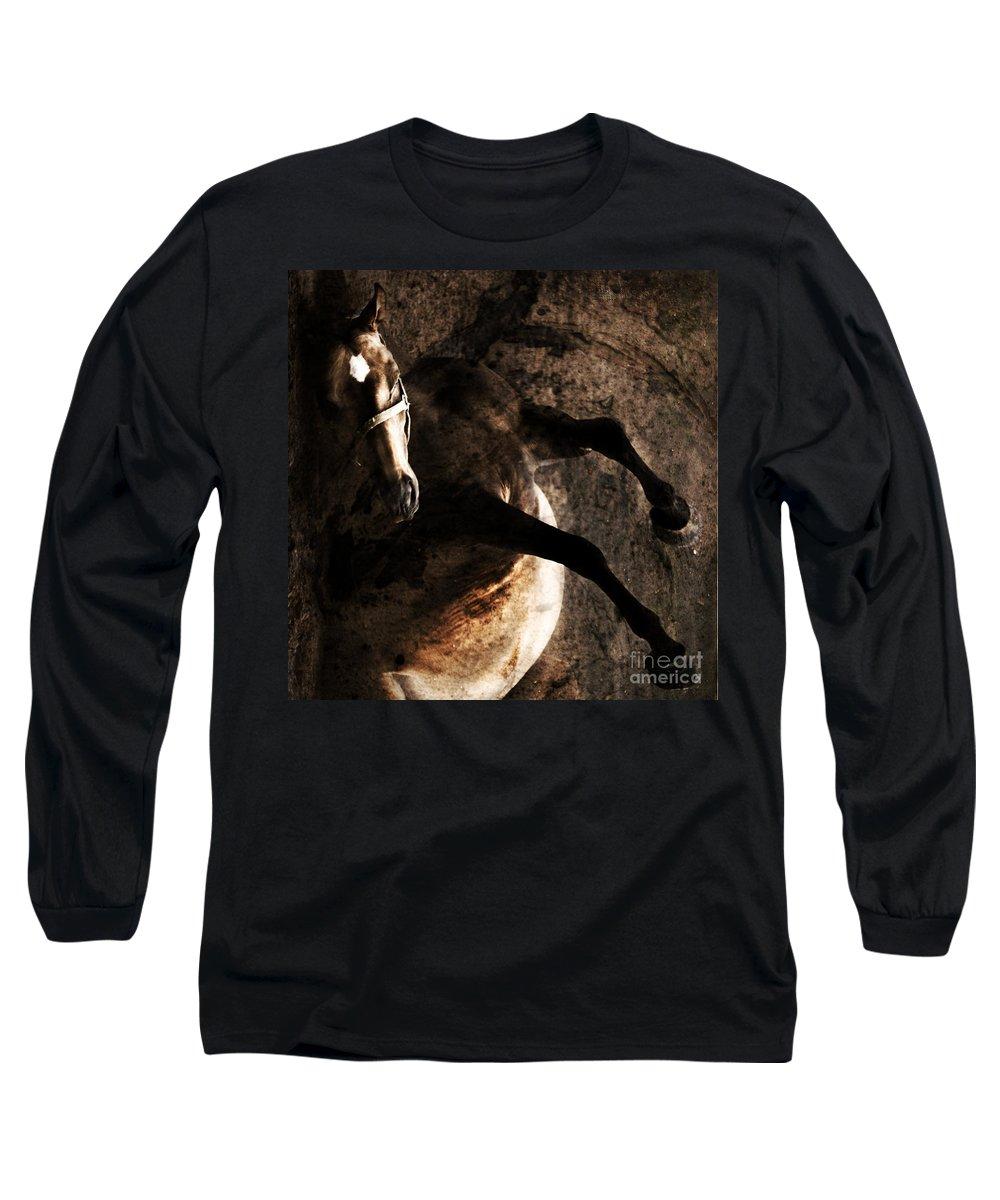 Horse Long Sleeve T-Shirt featuring the photograph Horse Art by Angel Tarantella