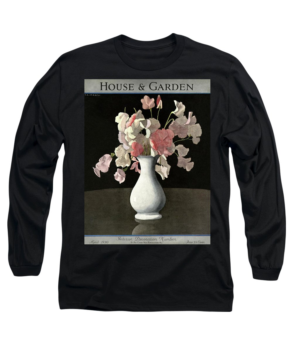 House And Garden Long Sleeve T-Shirt featuring the photograph House And Garden Interior Decoration Number by Andre E. Marty