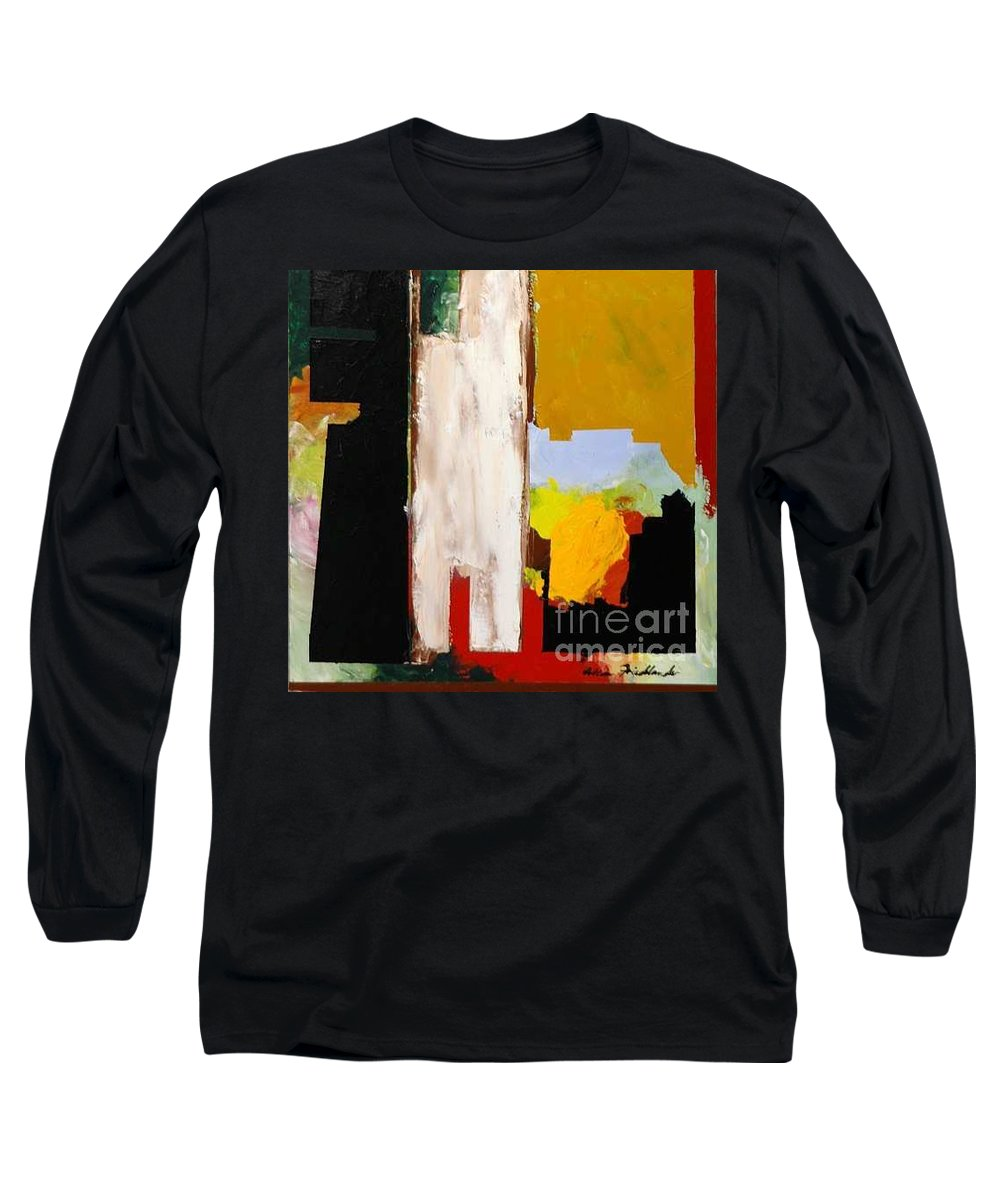 Landscape Long Sleeve T-Shirt featuring the painting Jordan Park 511 by Allan P Friedlander