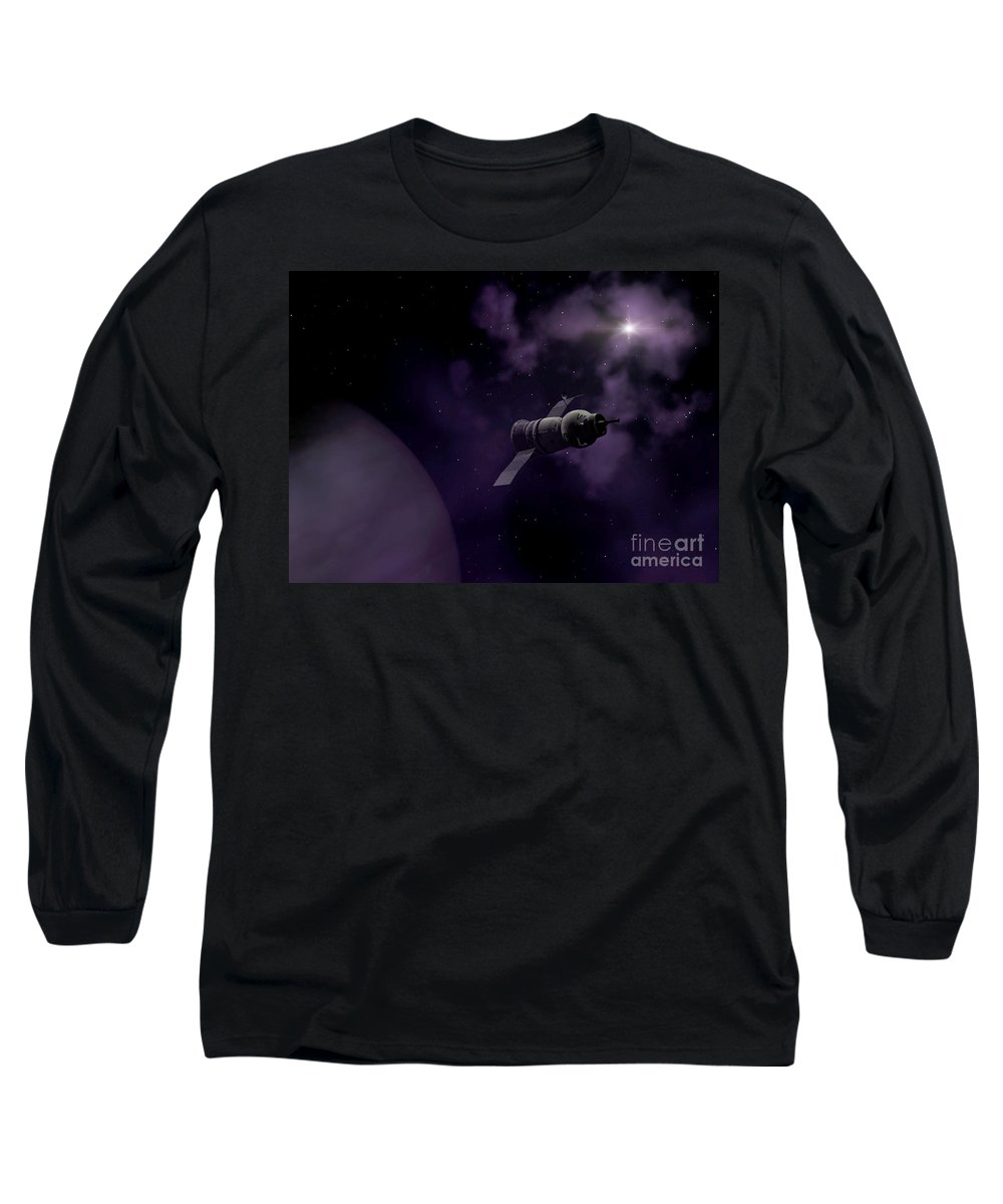 Space Long Sleeve T-Shirt featuring the digital art Jupitor One Exploration by Richard Rizzo