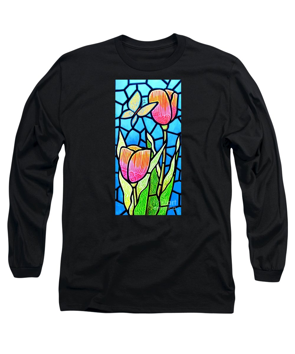 Butterflies Long Sleeve T-Shirt featuring the painting Just Visiting by Jim Harris