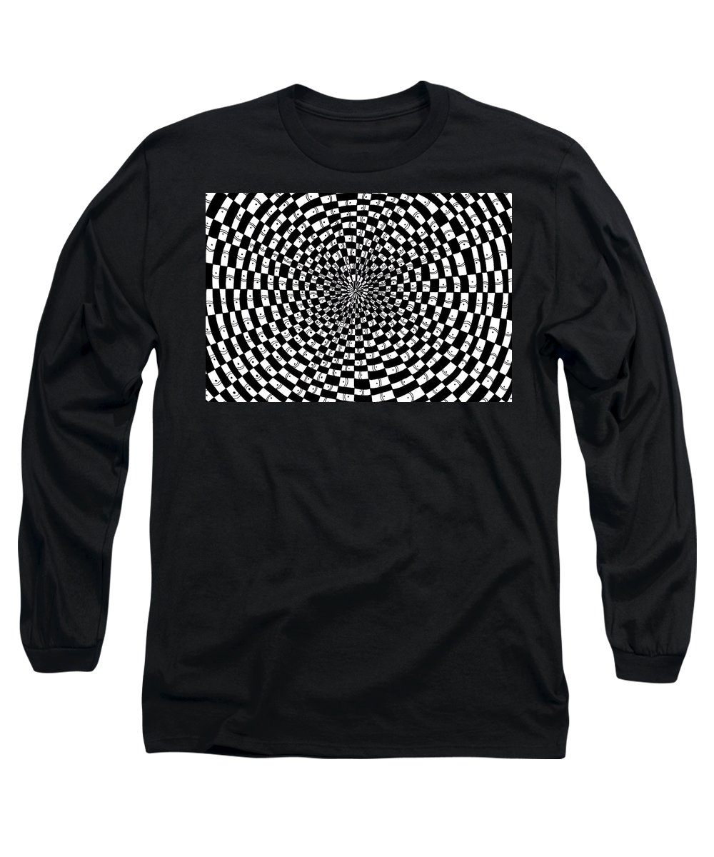 Abstract Long Sleeve T-Shirt featuring the drawing Legend Of An Abstract Artist by Crystal Hubbard