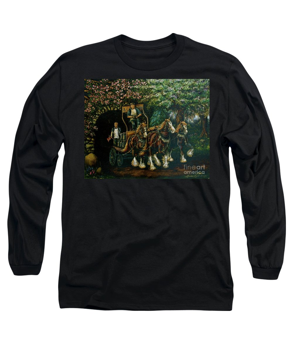 Long Sleeve T-Shirt featuring the painting Light Touch by Linda Simon