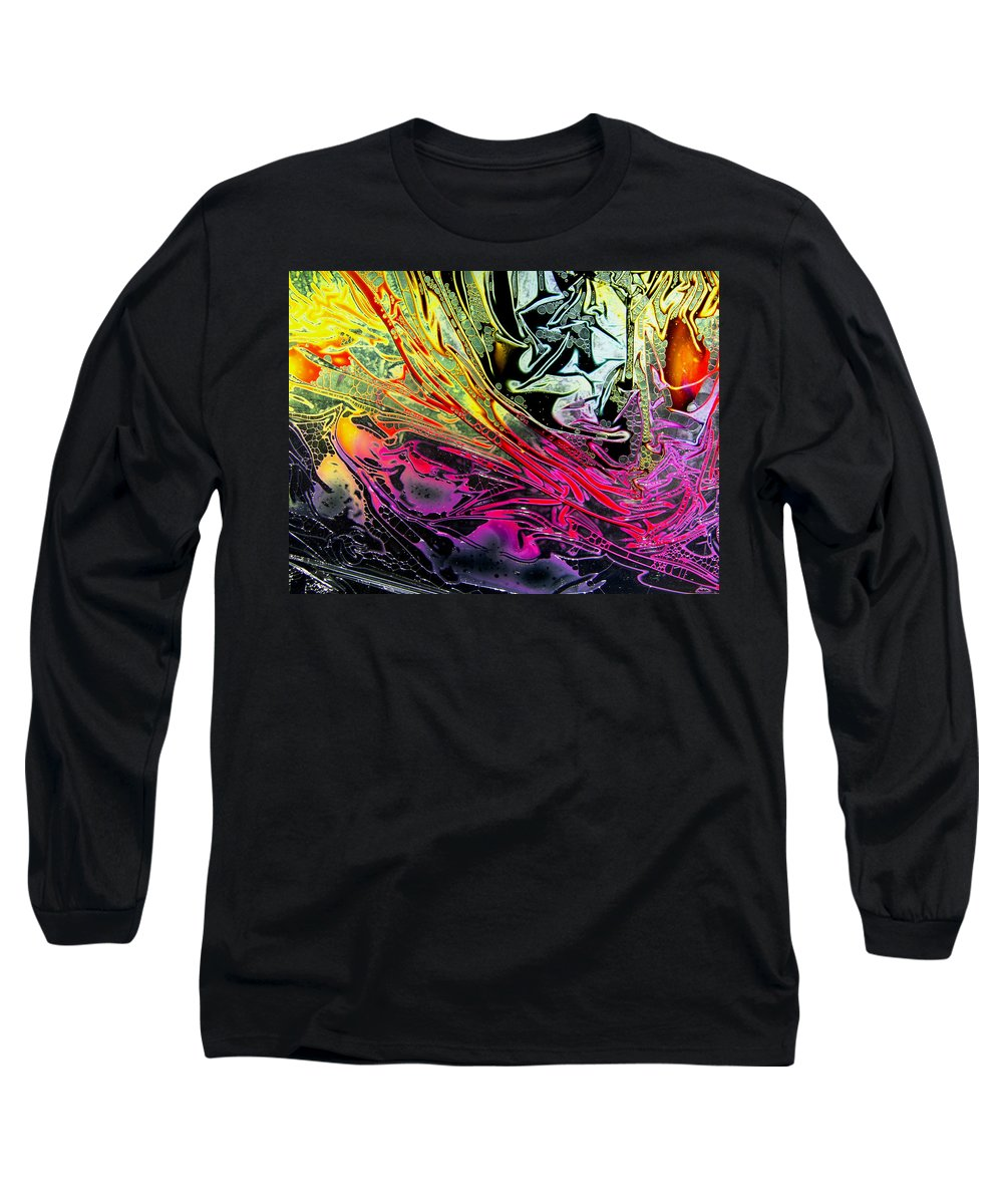 Surrealism Long Sleeve T-Shirt featuring the digital art Liquid Decalcomaniac Desires 1 by Otto Rapp