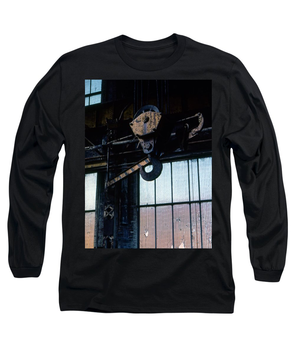 Hooks Long Sleeve T-Shirt featuring the photograph Locomotive Hook by Richard Rizzo