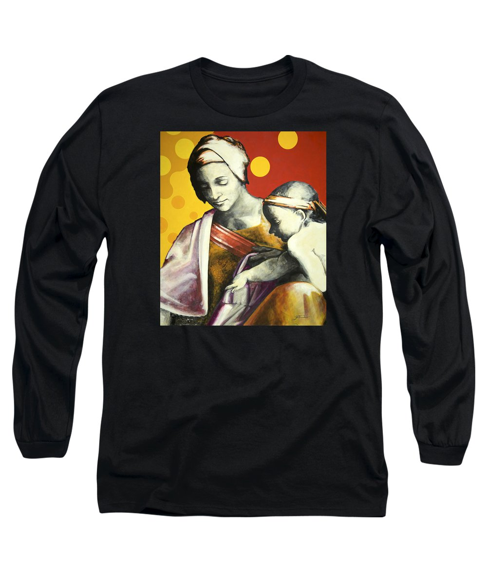 Figurative Long Sleeve T-Shirt featuring the painting Madona by Jean Pierre Rousselet