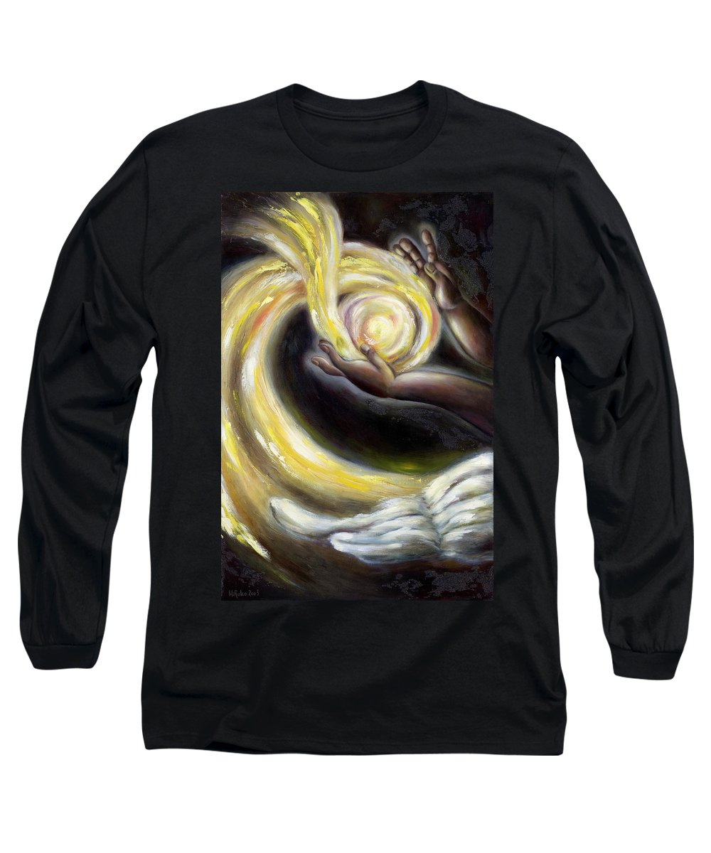 Angel Long Sleeve T-Shirt featuring the painting Magic by Hiroko Sakai