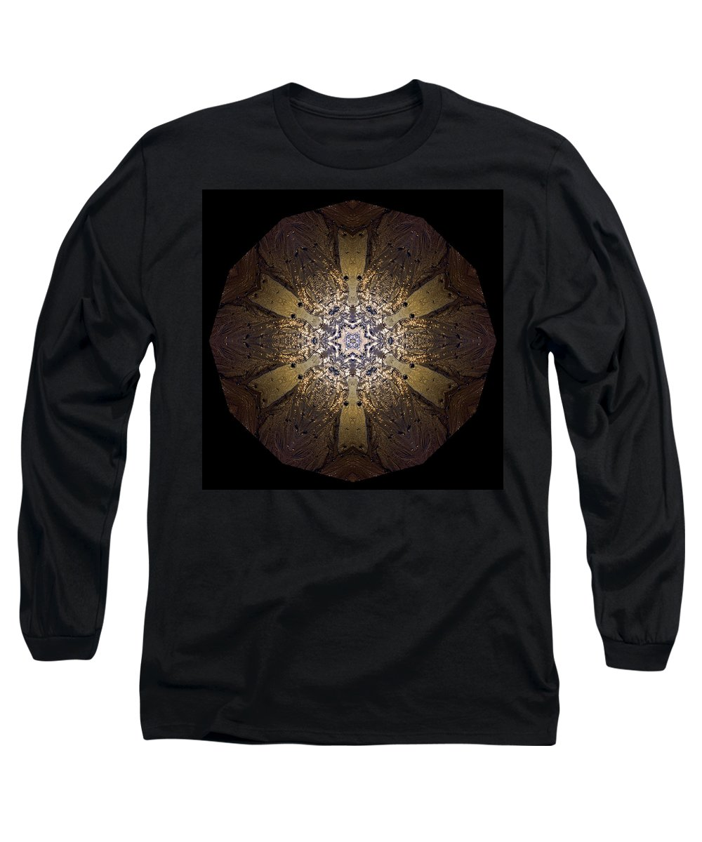Mandala Long Sleeve T-Shirt featuring the photograph Mandala Sand Dollar At Wells by Nancy Griswold