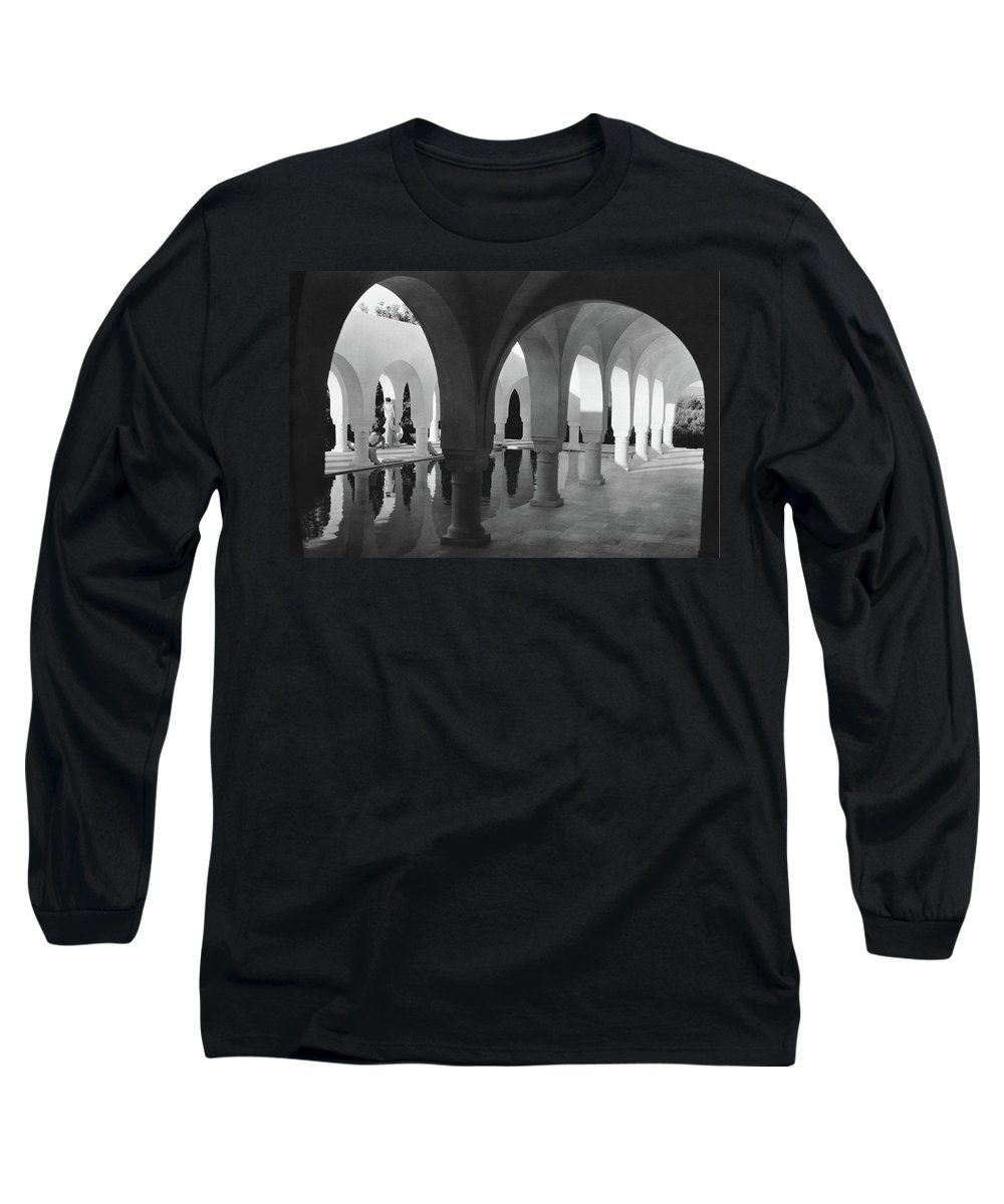 Exterior Long Sleeve T-Shirt featuring the photograph Mr George Sebastian And His Wife Next by George Hoyningen-Huene