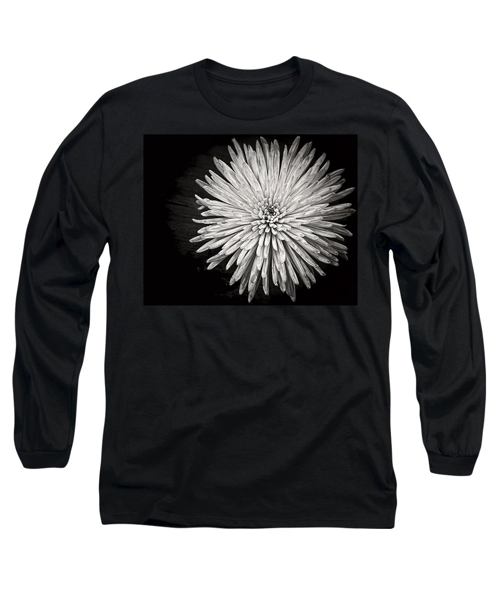 Flower Long Sleeve T-Shirt featuring the photograph Mum's The Word by Kristi Swift