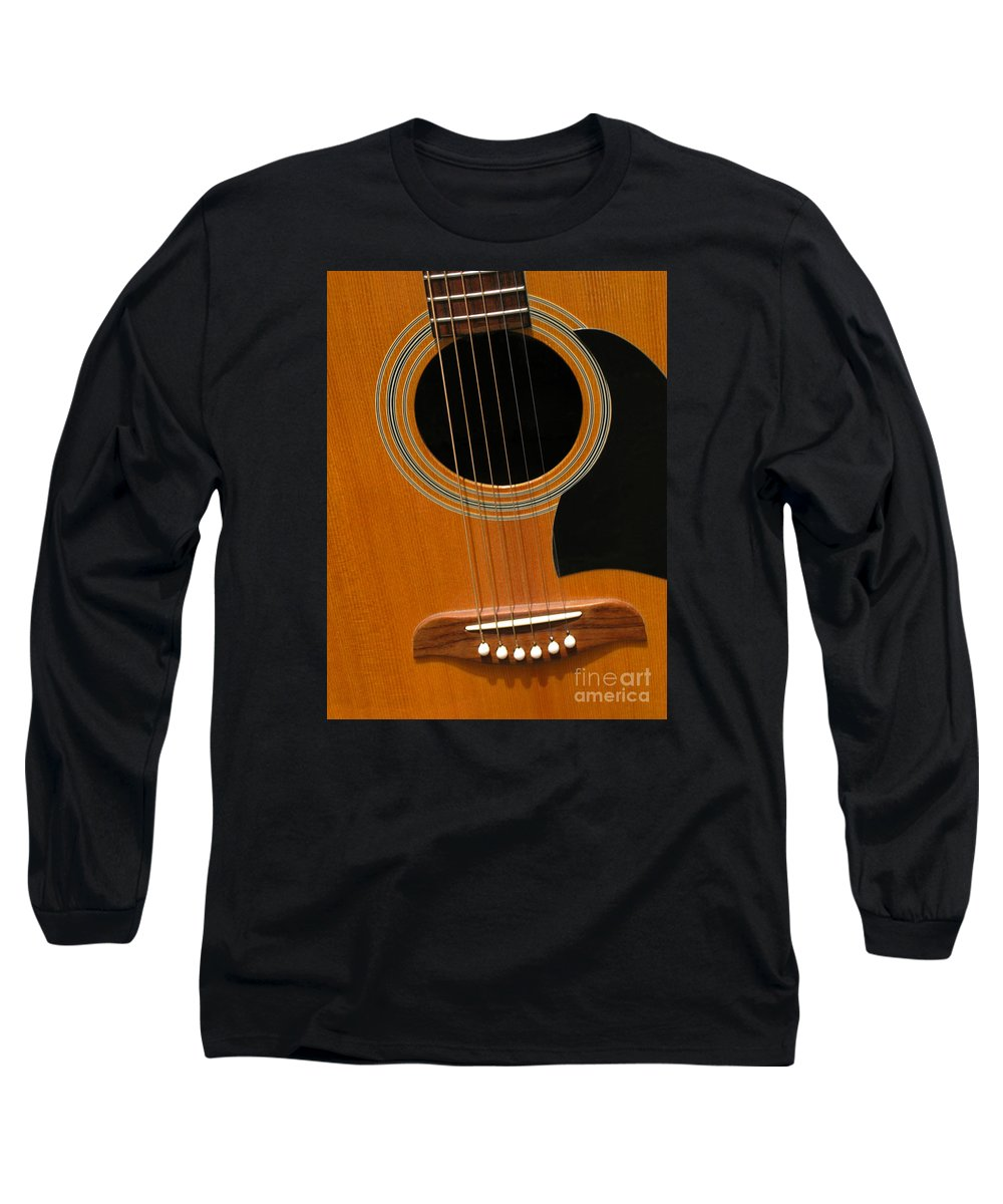 Guitar Long Sleeve T-Shirt featuring the photograph Musical Abstraction by Ann Horn