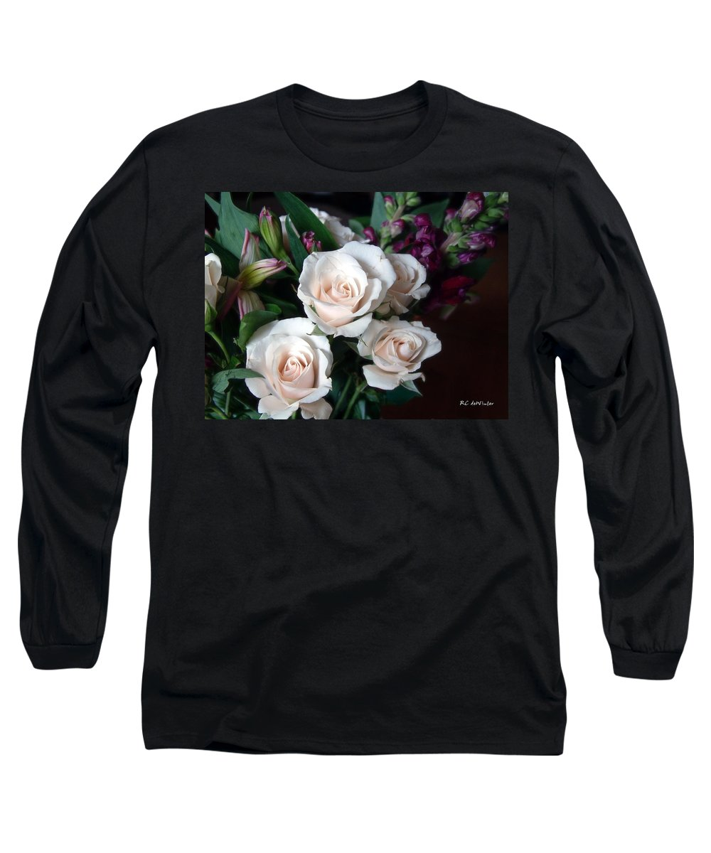Flowers Long Sleeve T-Shirt featuring the photograph Pardon My Blush by RC DeWinter