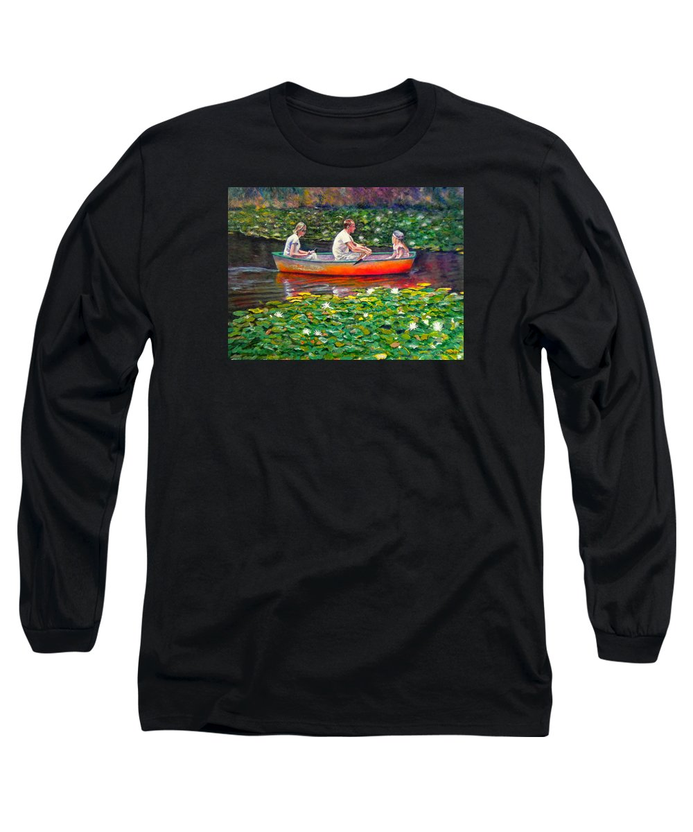 Water Lily Long Sleeve T-Shirt featuring the painting Perfect Afternoon by Michael Durst