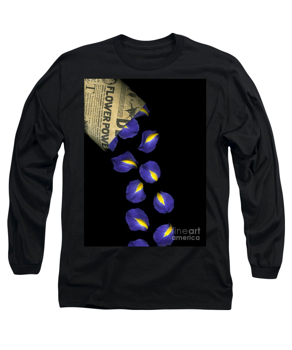 Scanography Long Sleeve T-Shirt featuring the photograph Petal Chips by Christian Slanec