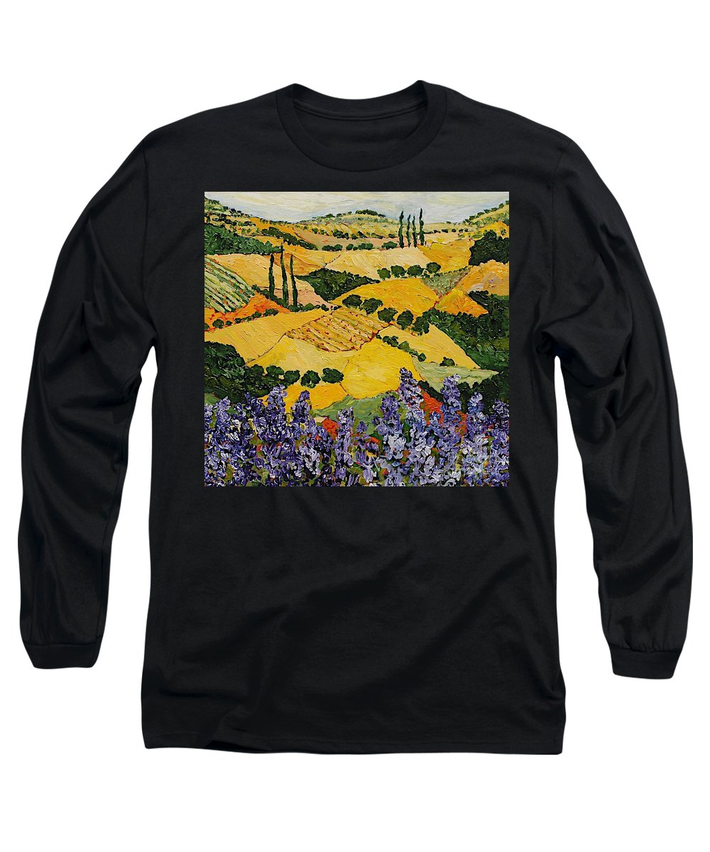 Landscape Long Sleeve T-Shirt featuring the painting Piping Hot by Allan P Friedlander