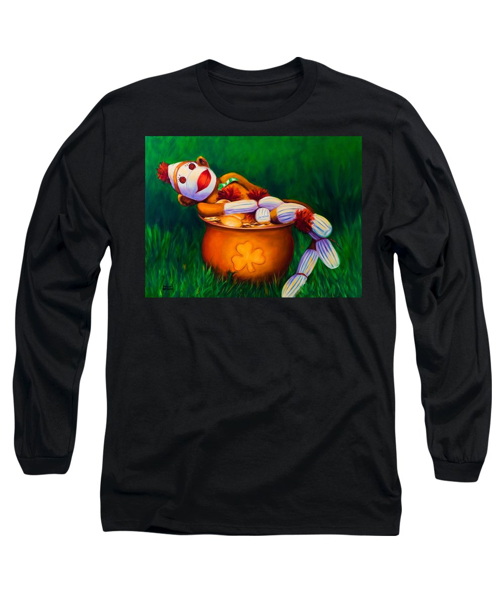 St. Patrick's Day Long Sleeve T-Shirt featuring the painting Pot O Gold by Shannon Grissom