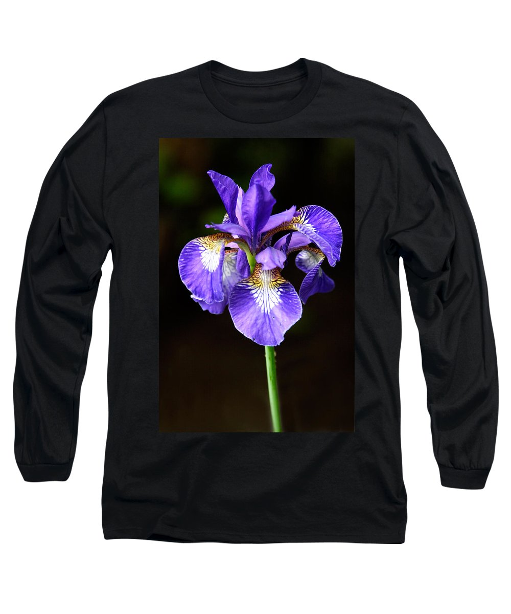 3scape Long Sleeve T-Shirt featuring the photograph Purple Iris by Adam Romanowicz