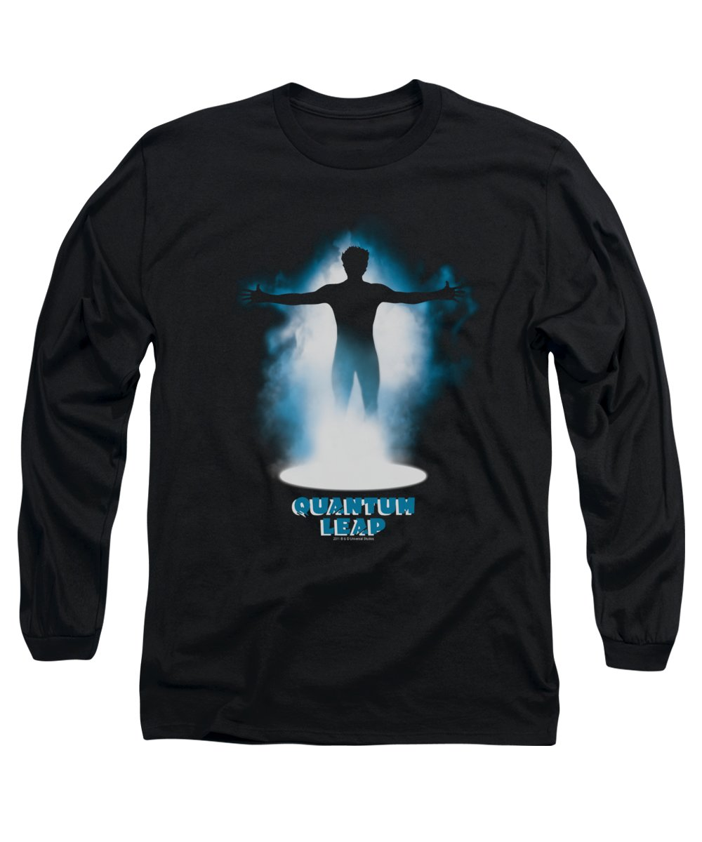 Quantum Leap Long Sleeve T-Shirt featuring the digital art Quantum Leap - First Jump by Brand A