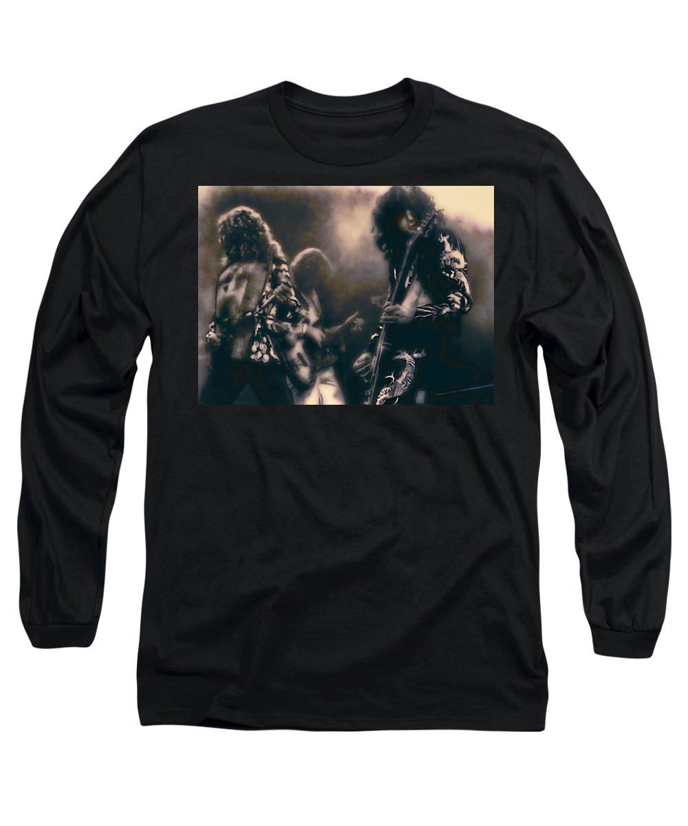 led Zeppelin Long Sleeve T-Shirt featuring the photograph Raw Energy Of Led Zeppelin by Daniel Hagerman