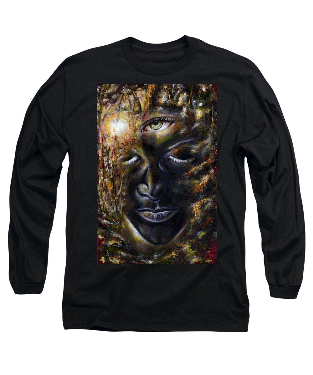 Eye Long Sleeve T-Shirt featuring the painting Revelation by Hiroko Sakai