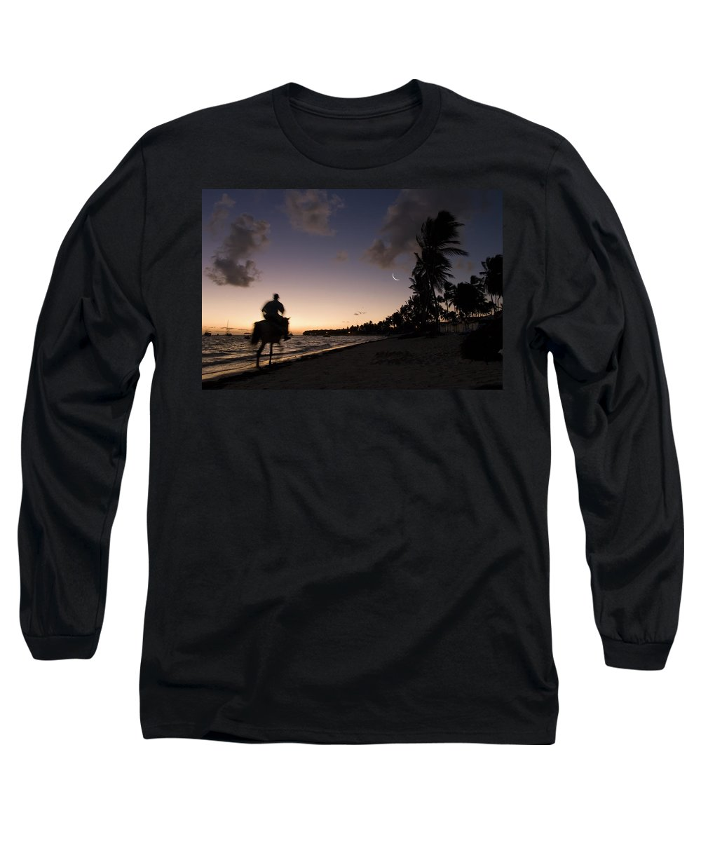 3scape Long Sleeve T-Shirt featuring the photograph Riding On The Beach by Adam Romanowicz