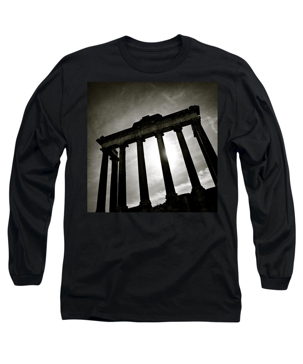Roman Forum Long Sleeve T-Shirt featuring the photograph Roman Forum by Dave Bowman