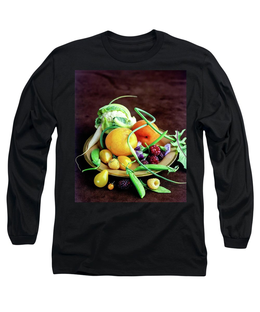 Fruits Long Sleeve T-Shirt featuring the photograph Seasonal Fruit And Vegetables by Romulo Yanes