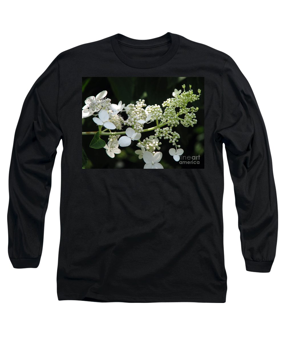 Hydrangea Long Sleeve T-Shirt featuring the photograph Simply by Amanda Barcon