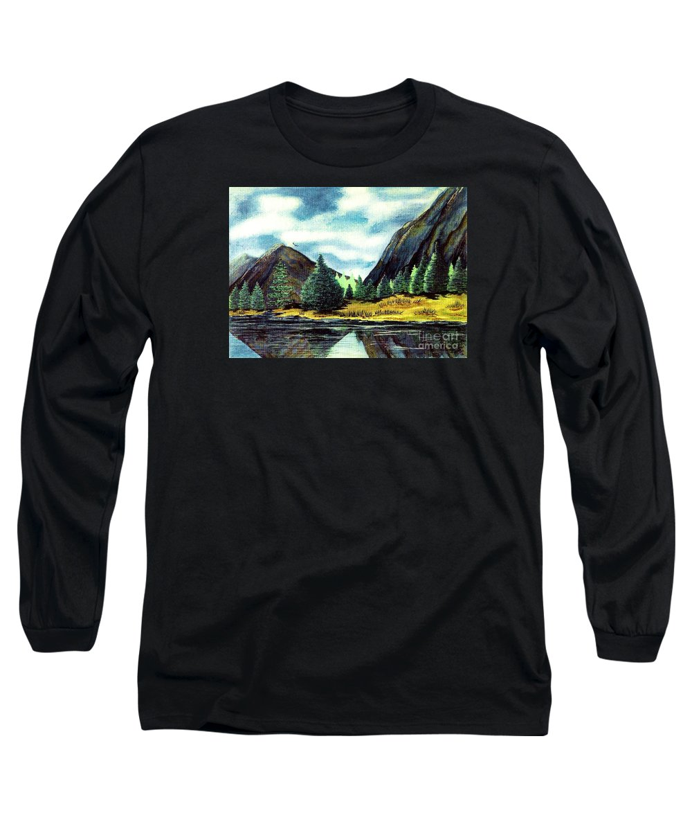 Fine Art Long Sleeve T-Shirt featuring the painting Solitude by Patricia Griffin Brett