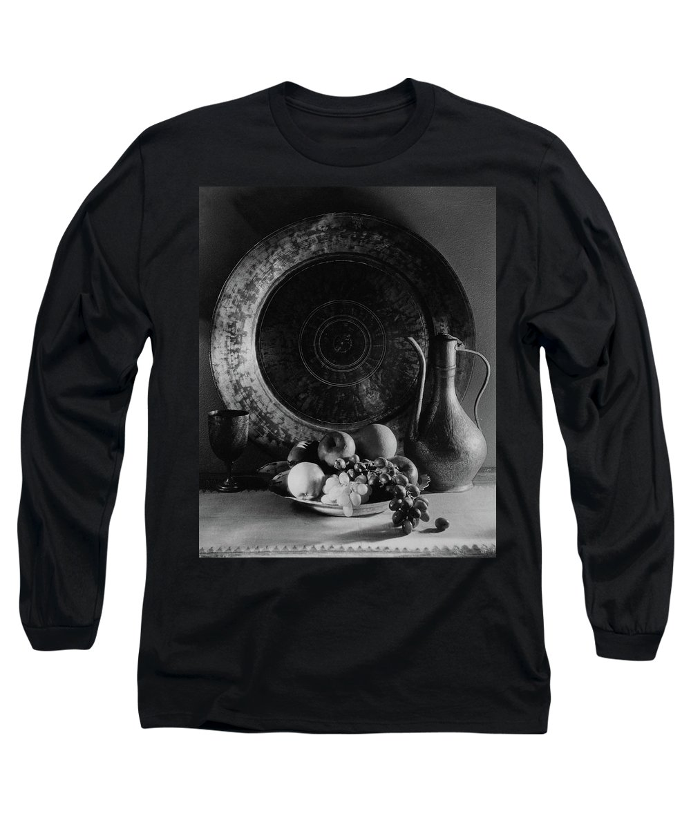 Decorative Art Long Sleeve T-Shirt featuring the photograph Still Life Of Armenian Plate And Other by Joseph B. Wurtz