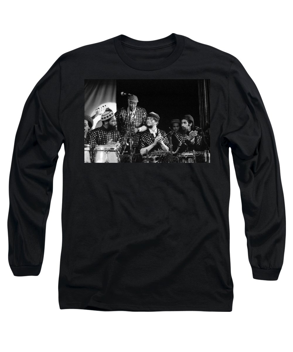 Jazz Long Sleeve T-Shirt featuring the photograph Sun Ra Arkestra With John Gilmore by Lee Santa