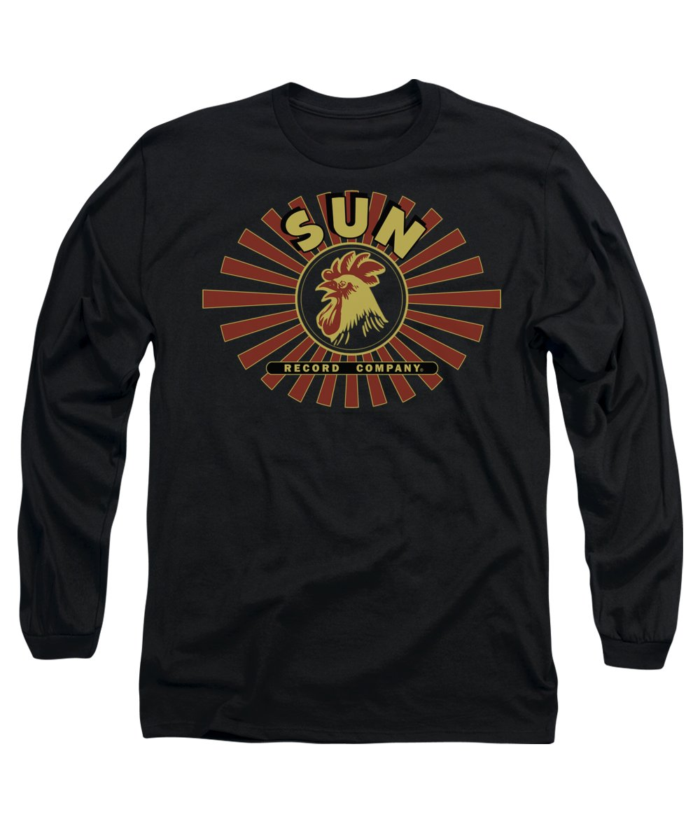 Sun Record Company Long Sleeve T-Shirt featuring the digital art Sun - Sun Ray Rooster by Brand A
