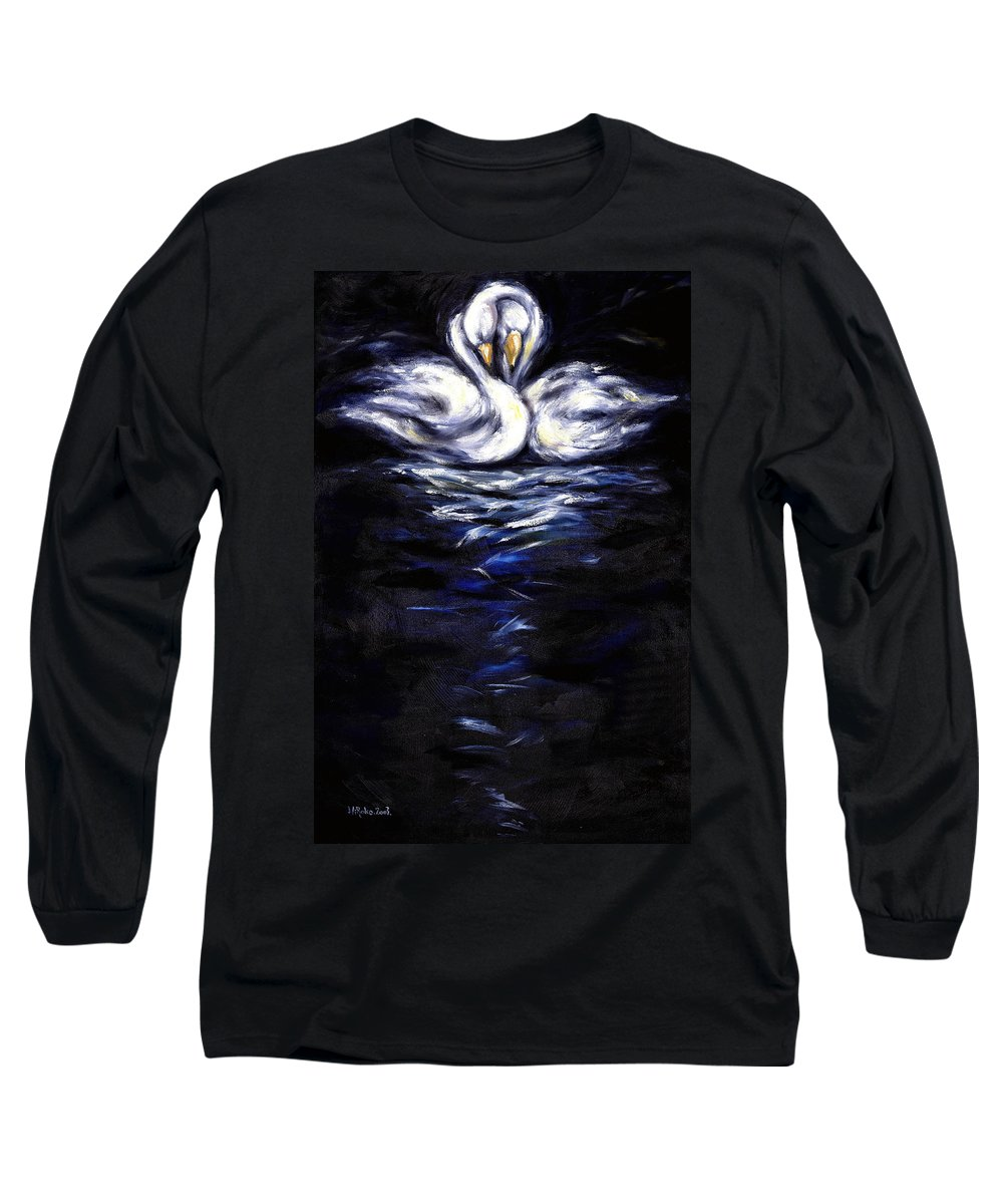 Bird Long Sleeve T-Shirt featuring the painting Swan by Hiroko Sakai