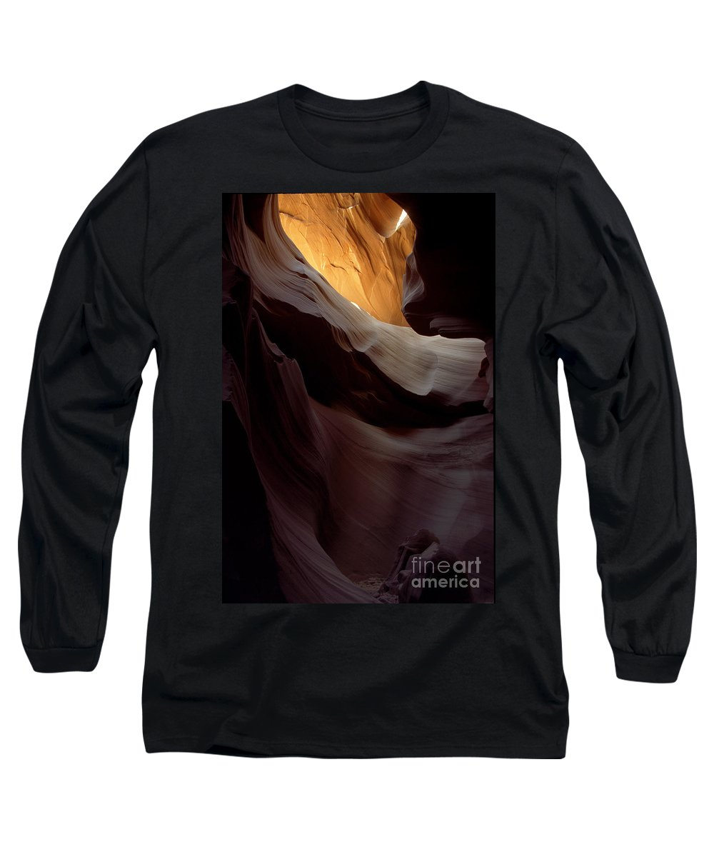 Slot Canyons Long Sleeve T-Shirt featuring the photograph Swopes by Kathy McClure