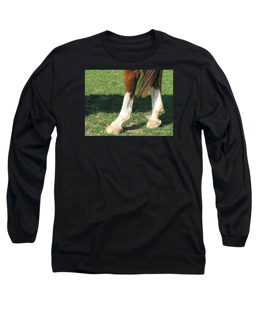 Horse Long Sleeve T-Shirt featuring the photograph Tail End by Ann Horn