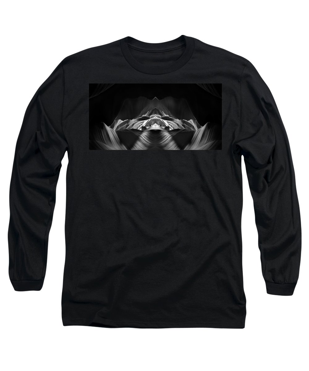 3scape Long Sleeve T-Shirt featuring the photograph The Cave by Adam Romanowicz