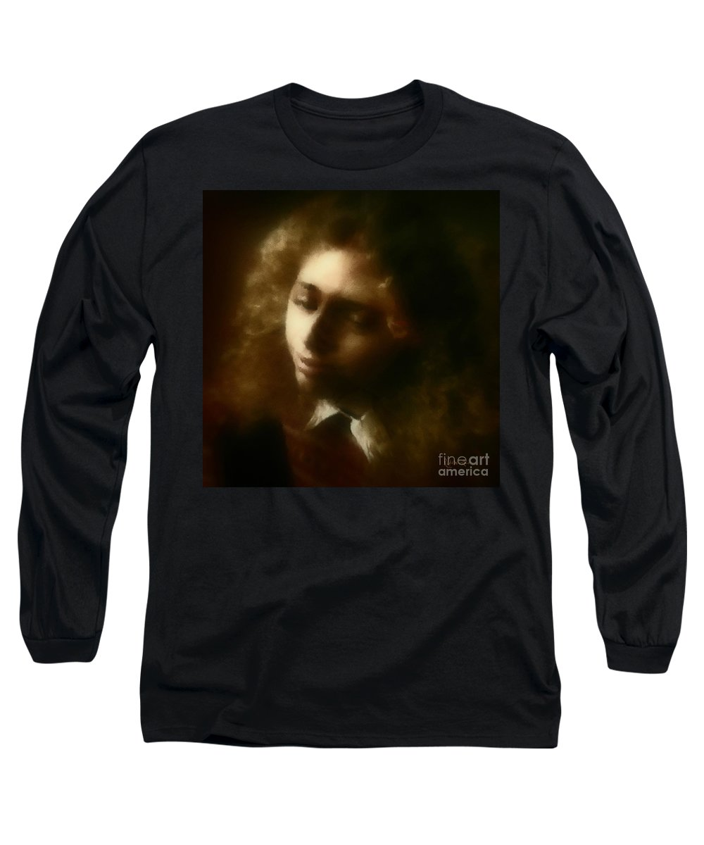 Girl Long Sleeve T-Shirt featuring the painting The Daydream by RC DeWinter