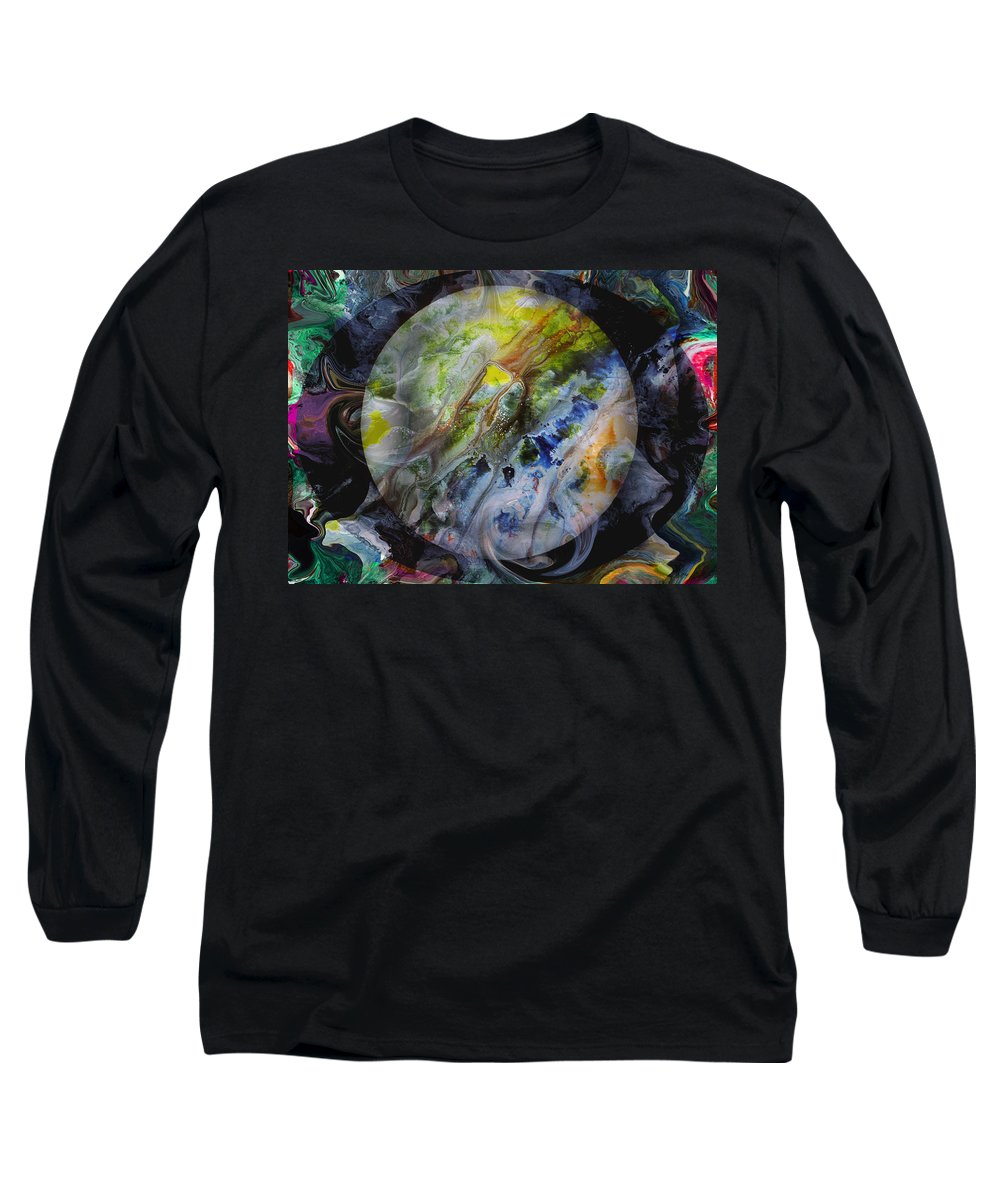 Surrealism Long Sleeve T-Shirt featuring the digital art The Eye Of Silence by Otto Rapp