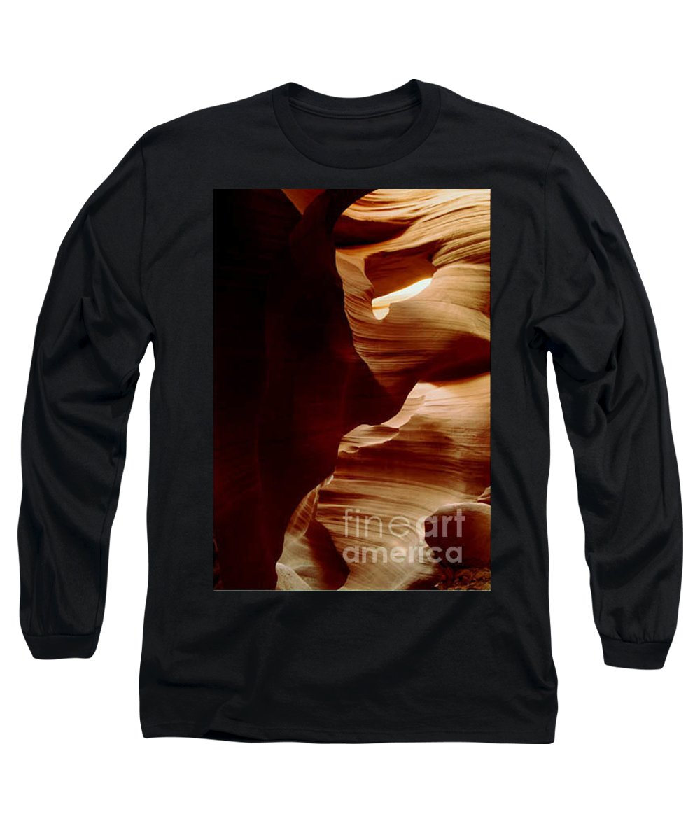 Landscape Long Sleeve T-Shirt featuring the photograph The Heart Of Antelope Canyon by Kathy McClure