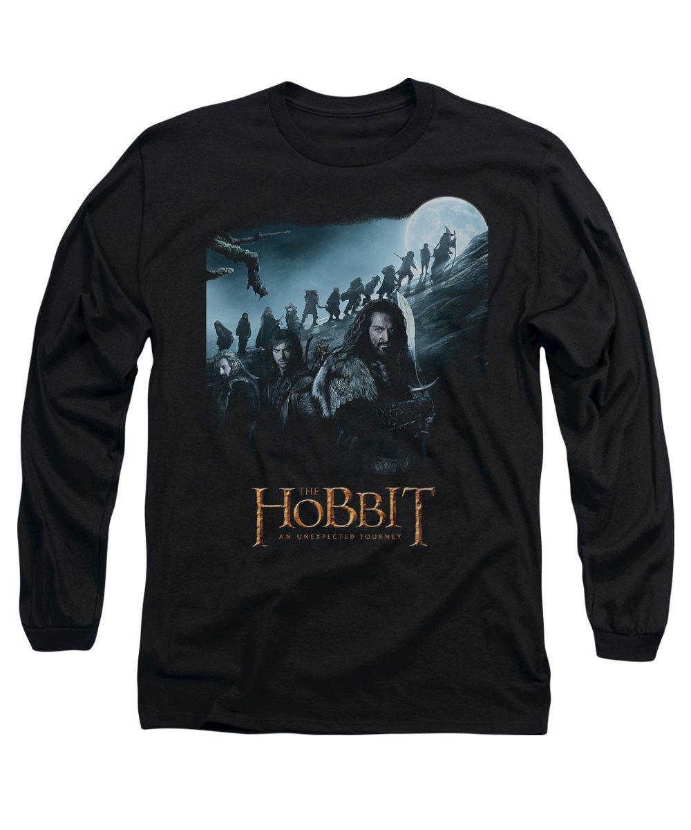 The Hobbit Long Sleeve T-Shirt featuring the digital art The Hobbit - A Journey by Brand A