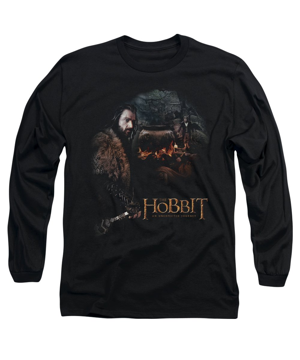 The Hobbit Long Sleeve T-Shirt featuring the digital art The Hobbit - Cauldron by Brand A