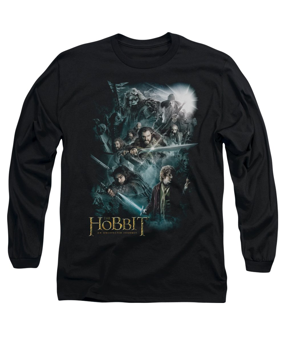 The Hobbit Long Sleeve T-Shirt featuring the digital art The Hobbit - Epic Adventure by Brand A