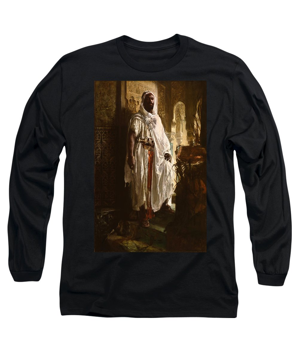 Eduard Charlemont Long Sleeve T-Shirt featuring the painting The Moorish Chief by Eduard Charlemont