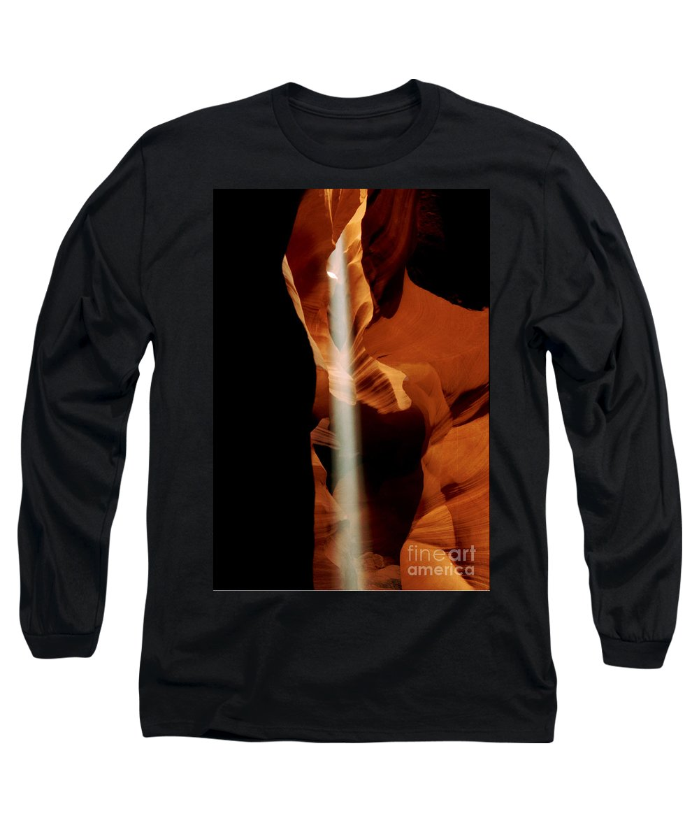 Antelope Canyon Long Sleeve T-Shirt featuring the photograph The Source by Kathy McClure