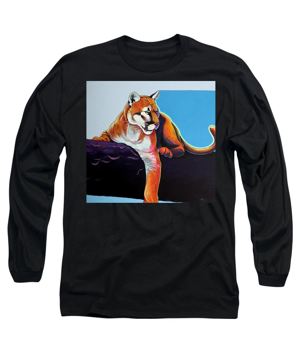 Wildlife Long Sleeve T-Shirt featuring the painting The Toll Collector by Joe Triano