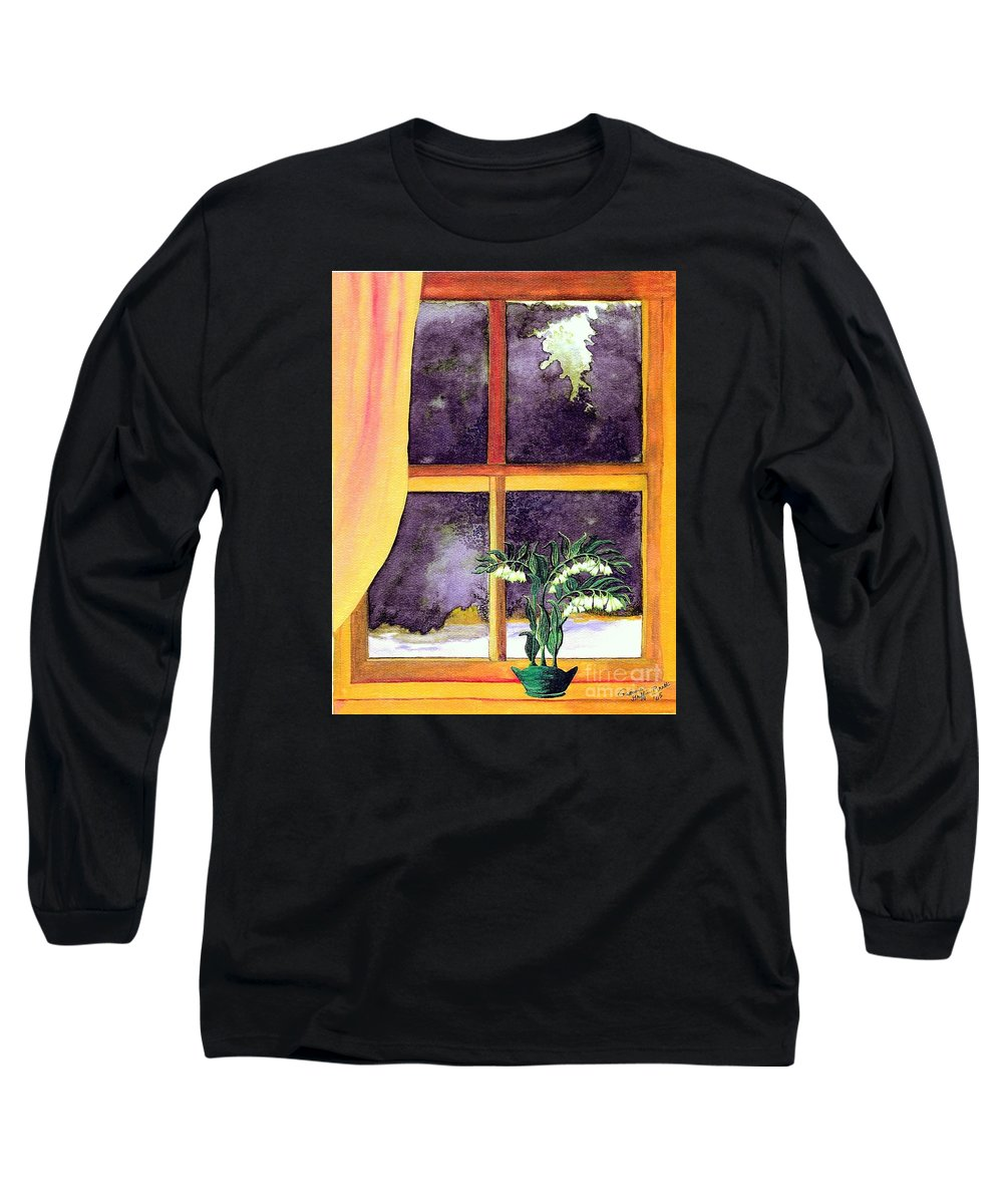 Fine Art Long Sleeve T-Shirt featuring the painting Through The Window by Patricia Griffin Brett