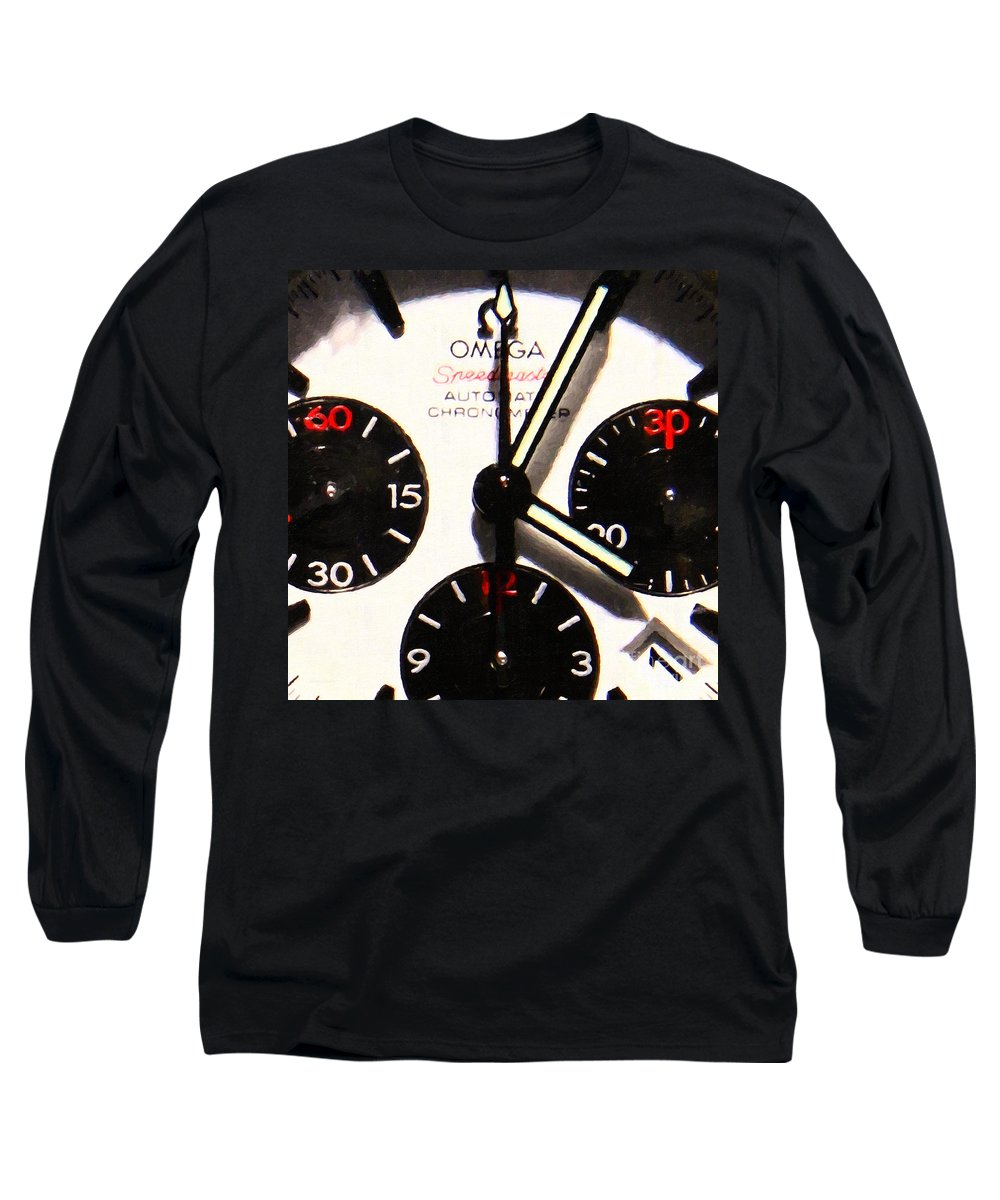 Watch Long Sleeve T-Shirt featuring the photograph Time Piece - 5d20658 by Wingsdomain Art and Photography