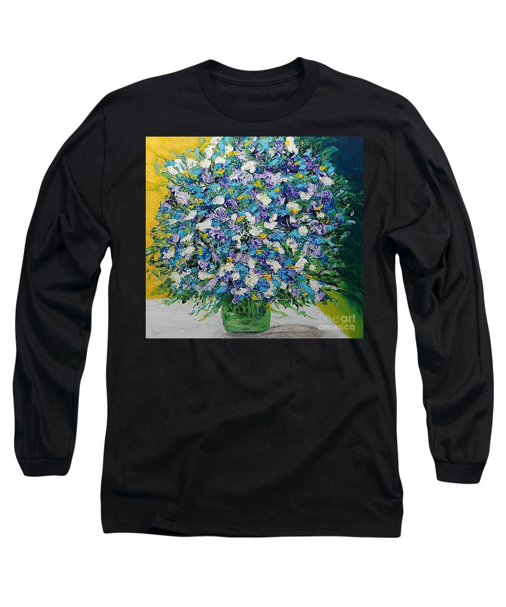 Landscape Long Sleeve T-Shirt featuring the painting To Have And Delight by Allan P Friedlander
