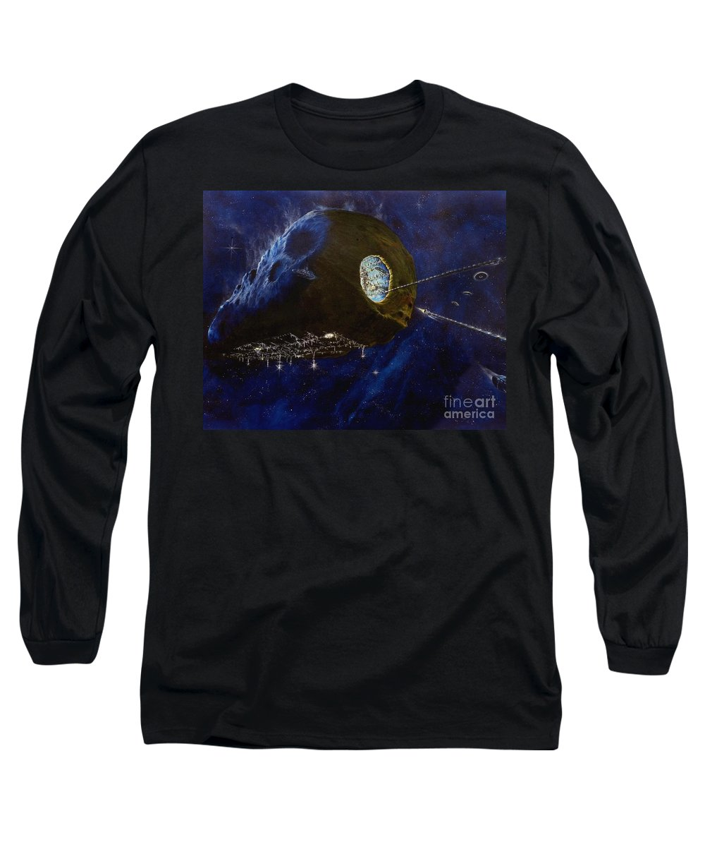 Oil Long Sleeve T-Shirt featuring the painting Tomorrow by Murphy Elliott